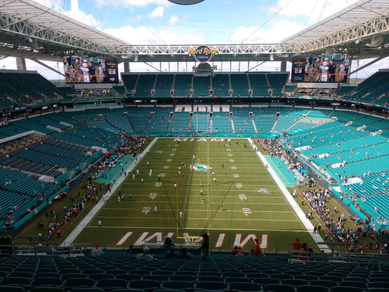 Seating view for Hard Rock Stadium Section 332 Row 23 Seat 10