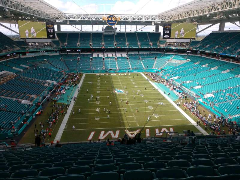 Seating view for Hard Rock Stadium Section 333 Row 25 Seat 10
