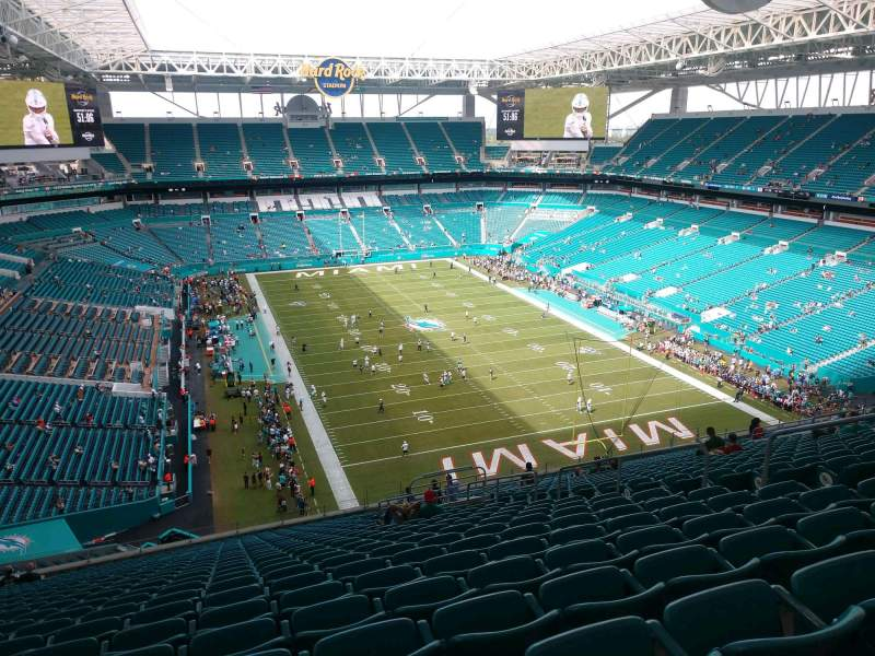 Seating view for Hard Rock Stadium Section 335 Row 26 Seat 10