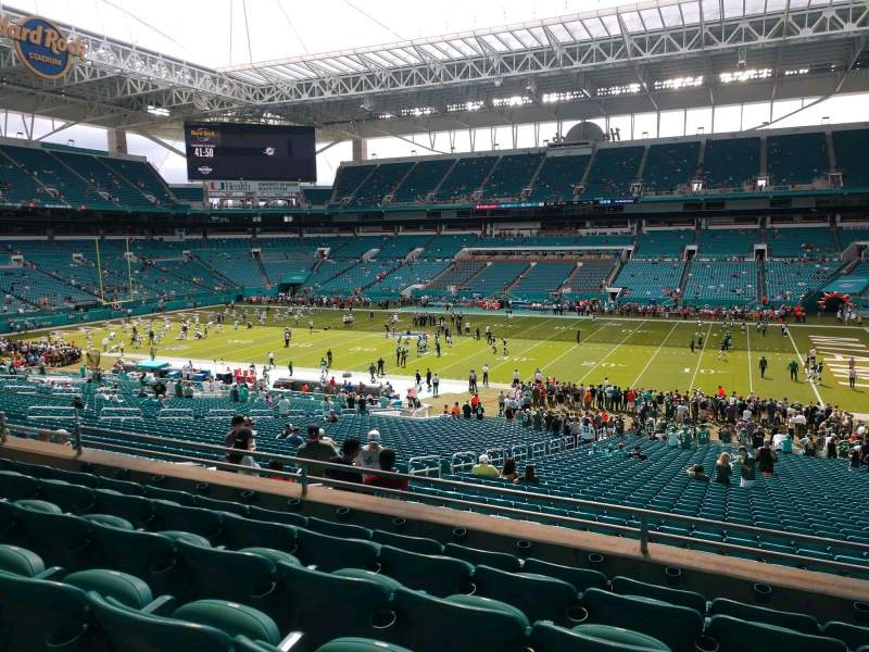 Seating view for Hard Rock Stadium Section 215 Row 6 Seat 10