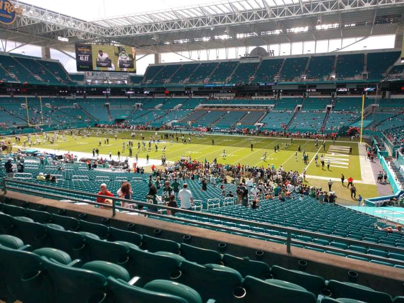 Seating view for Hard Rock Stadium Section 214 Row 5 Seat 10