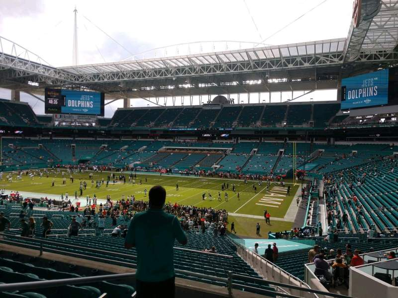 Seating view for Hard Rock Stadium Section 213 Row 6 Seat 20