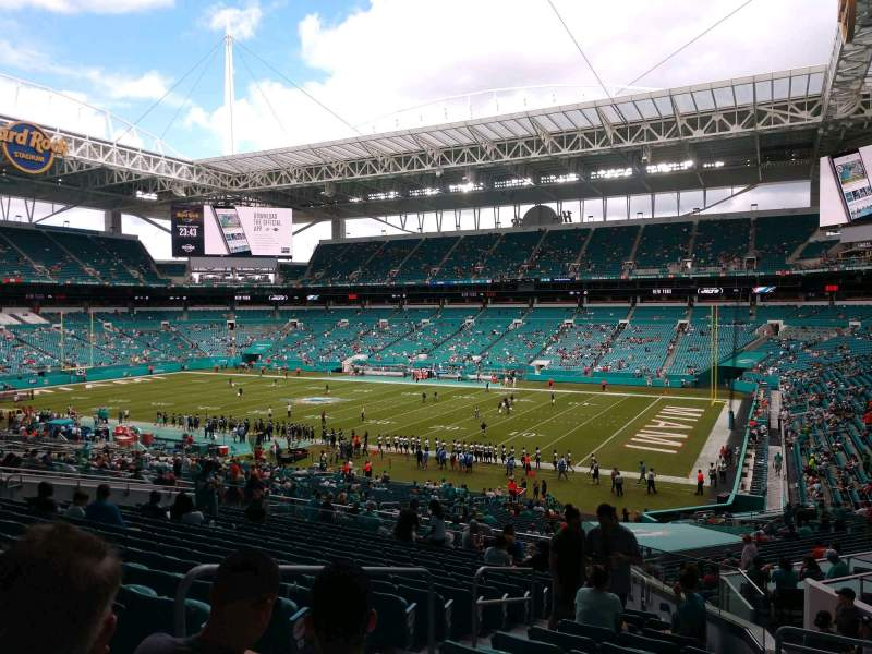 Seating view for Hard Rock Stadium Section 241 Row 17 Seat 19