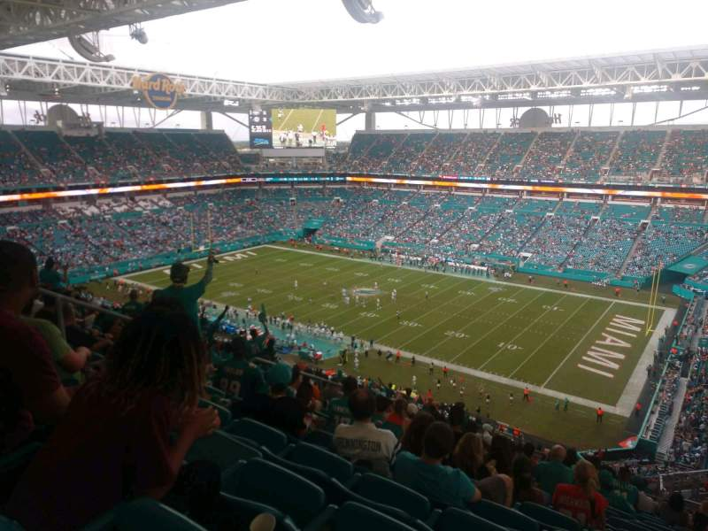 Seating view for Hard Rock Stadium Section 341 Row 23 Seat 15
