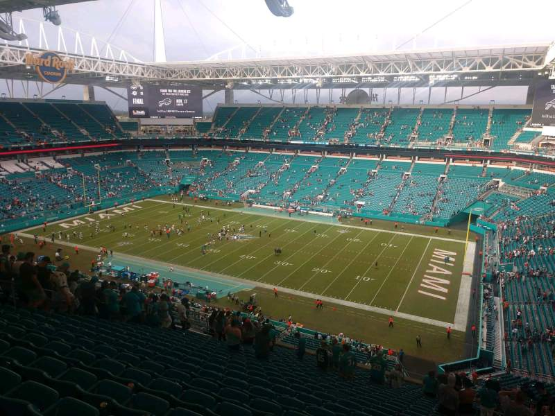 Seating view for Hard Rock Stadium Section 342 Row 25 Seat 4