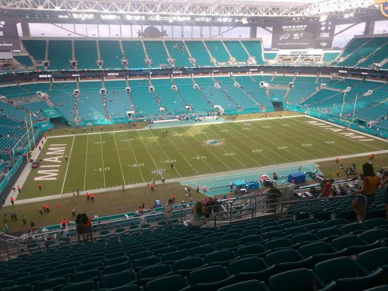 Seating view for Hard Rock Stadium Section 349 Row 20 Seat 10