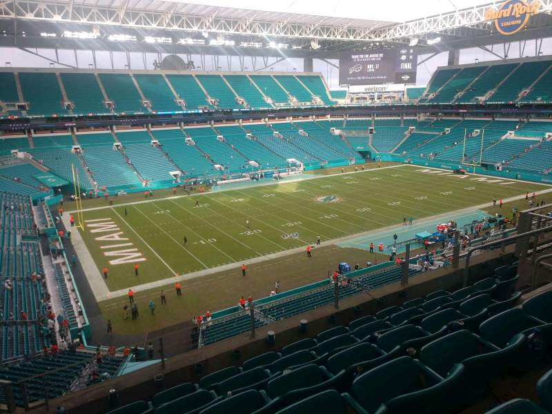 Seating view for Hard Rock Stadium Section 351 Row 6 Seat 11