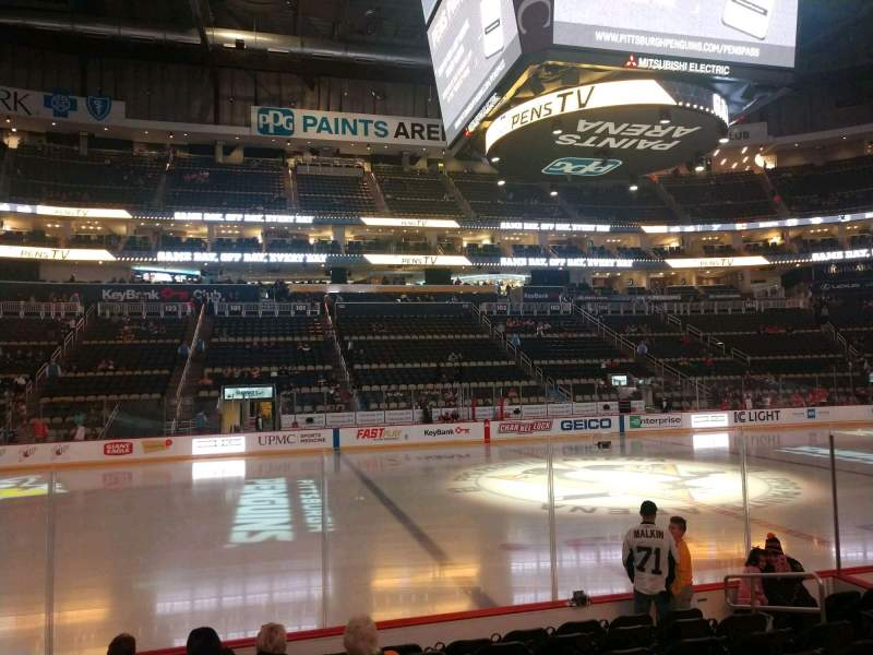 Seating view for PPG Paints Arena Section 113 Row H Seat 8