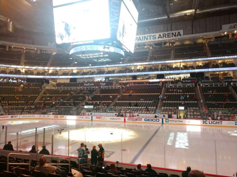 Seating view for PPG Paints Arena Section 111 Row M Seat 6