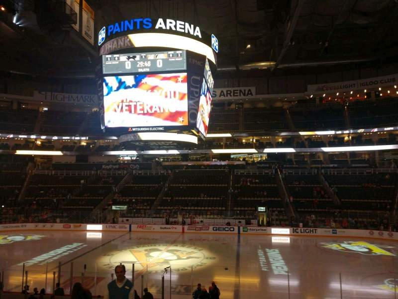 Seating view for PPG Paints Arena Section 111 Row U Seat 12