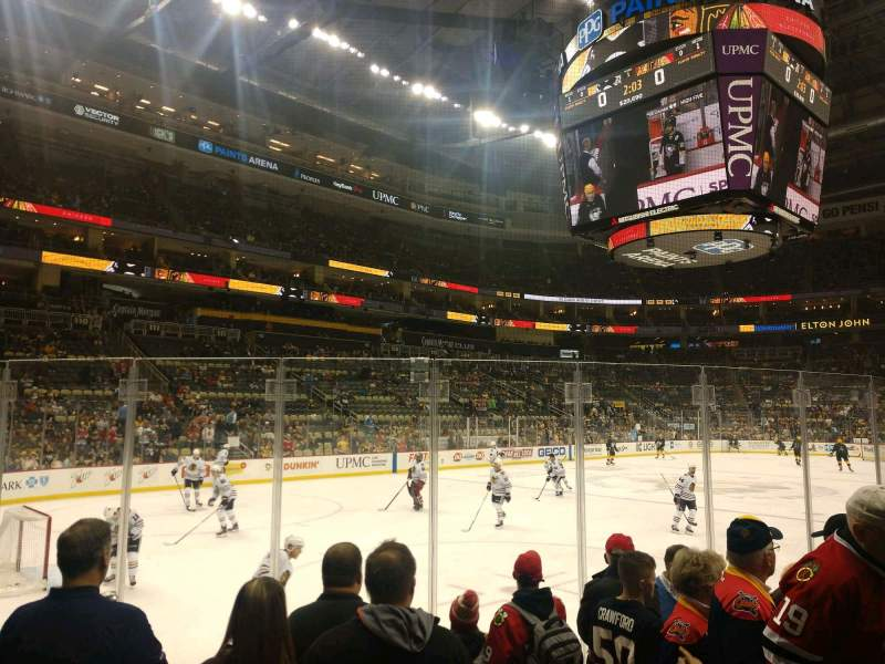 Seating view for PPG Paints Arena Section 105 Row F Seat 3