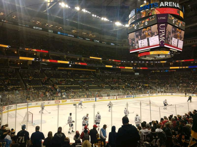 Seating view for PPG Paints Arena Section 105 Row L Seat 1