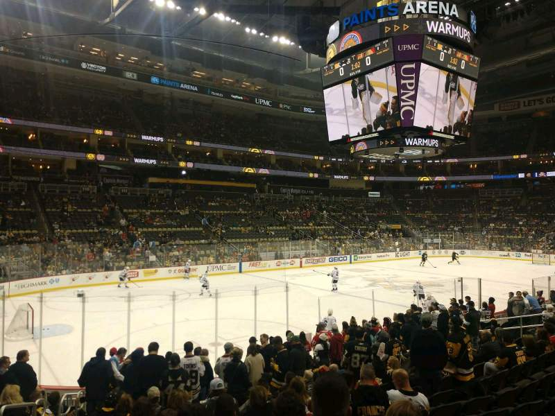 Seating view for PPG Paints Arena Section 103 Row N Seat 26