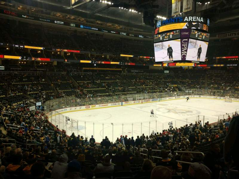 Seating view for PPG Paints Arena Section 105 Row Y Seat 4