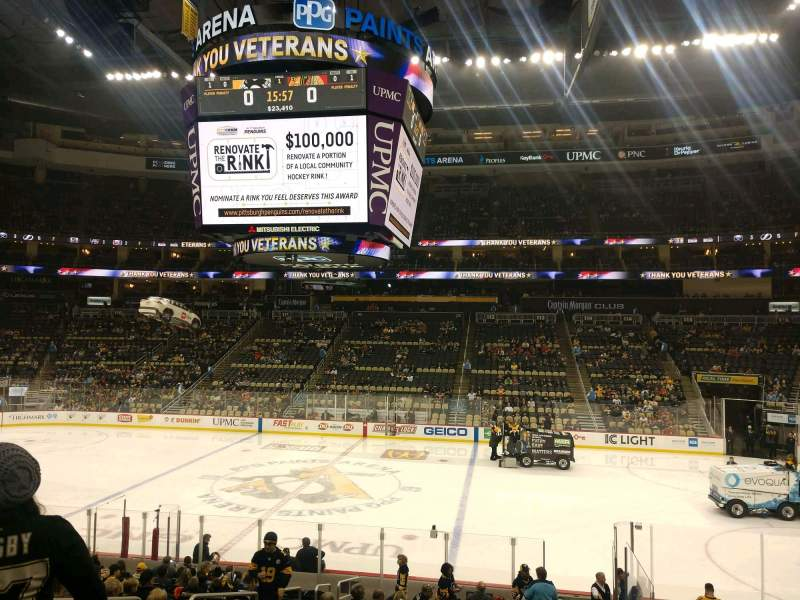 Seating view for PPG Paints Arena Section 101 Row U Seat 10