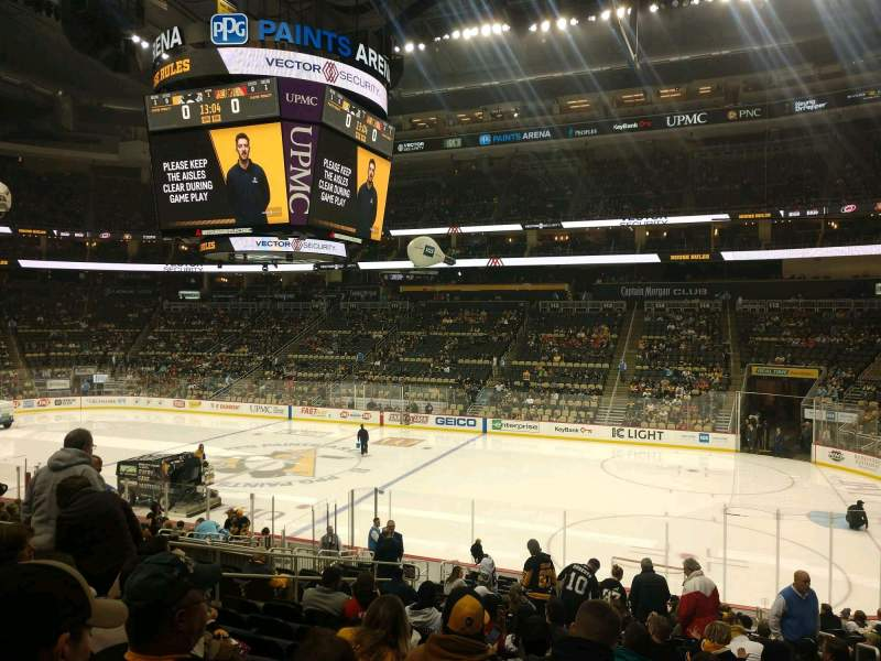Seating view for PPG Paints Arena Section 122 Row V Seat 3
