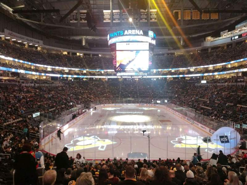 Seating view for PPG Paints Arena Section 118 Row W Seat 10