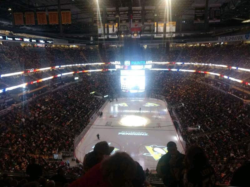 Seating view for PPG Paints Arena Section 211 Row K Seat 1