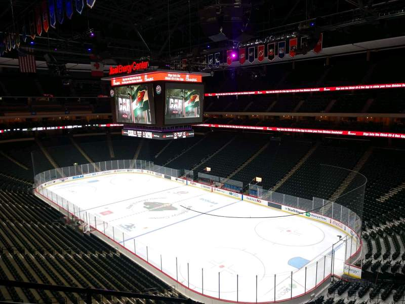Seating view for Xcel Energy Center Section C40 Row 4 Seat 6