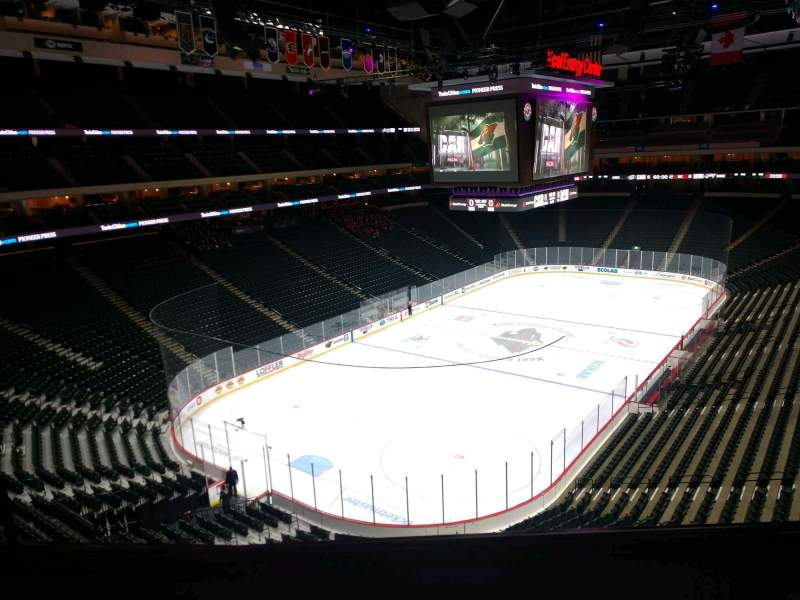 Seating view for Xcel Energy Center Section C33 Row 4 Seat 9