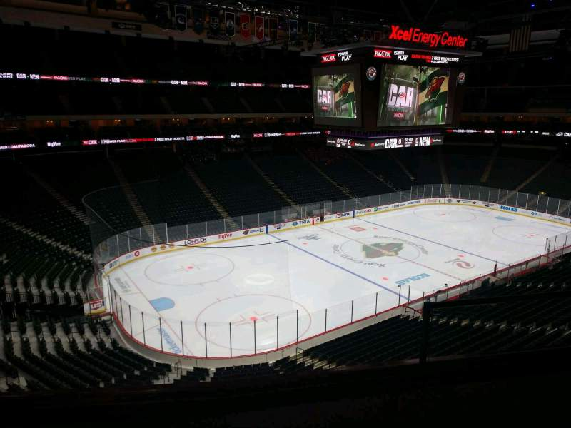 Seating view for Xcel Energy Center Section C31 Row 3 Seat 3