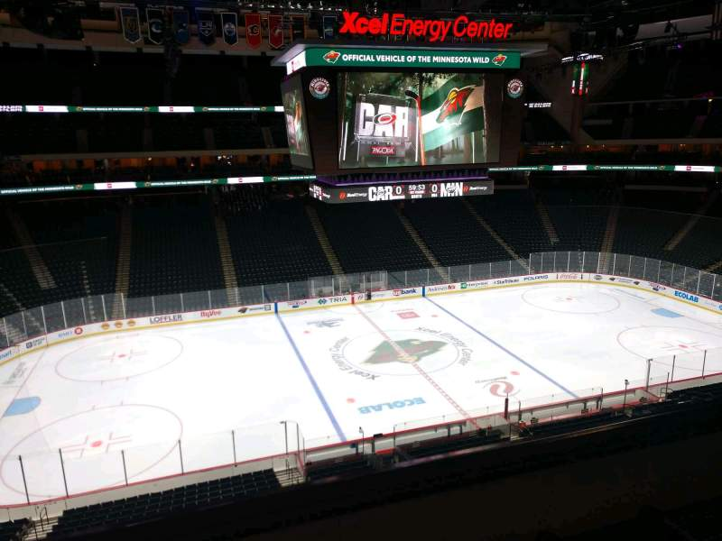 Seating view for Xcel Energy Center Section C28 Row 3 Seat 6