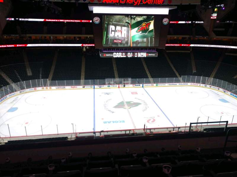 Seating view for Xcel Energy Center Section C27 Row 6 Seat 6
