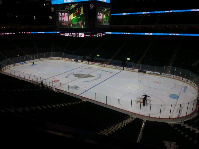 Seating view for Xcel Energy Center Section C2 Row 1 Seat 9