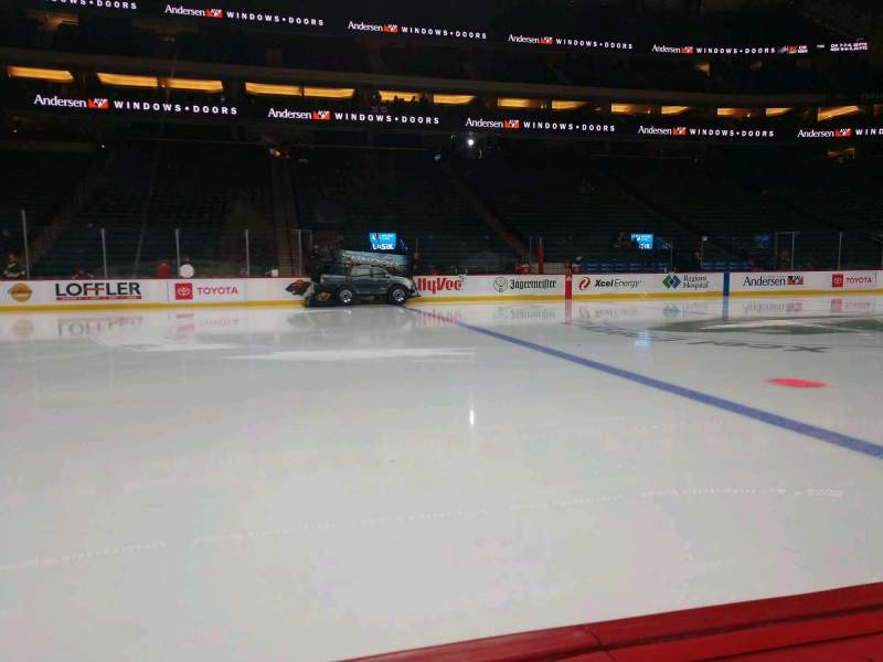 Seating view for Xcel Energy Center Section 105 Row 1 Seat 1