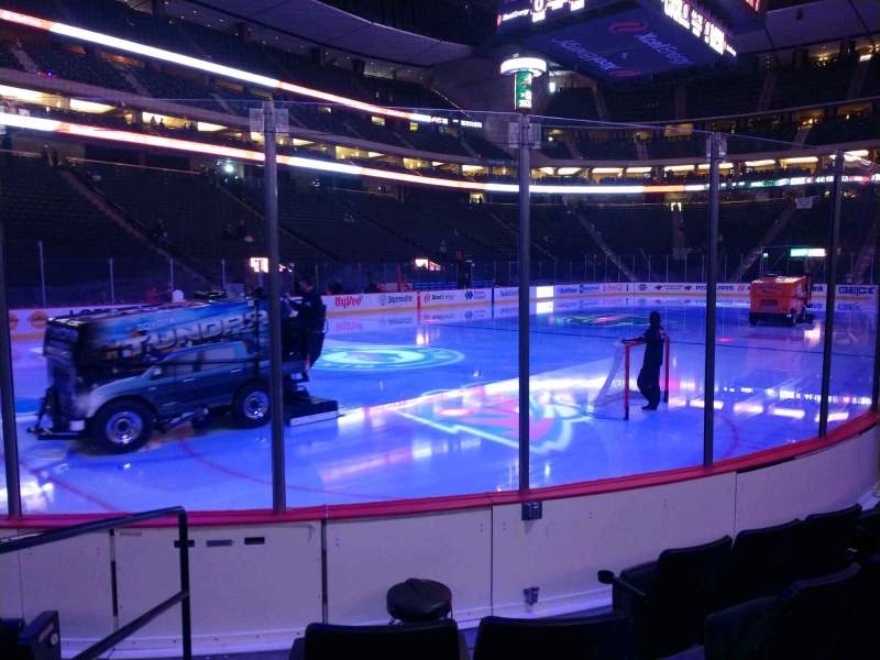 Seating view for Xcel Energy Center Section 107 Row 5 Seat 8