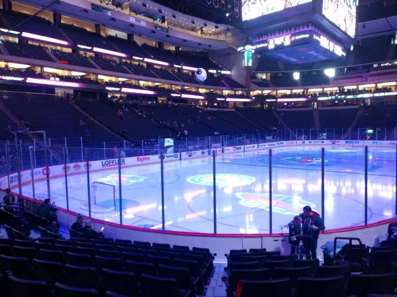 Seating view for Xcel Energy Center Section 121 Row 10 Seat 5