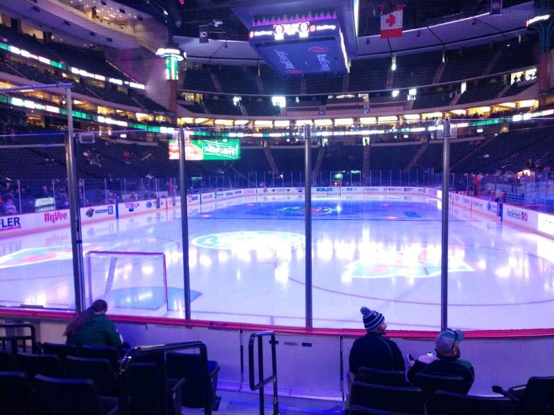 Seating view for Xcel Energy Center Section 122 Row 6 Seat 8