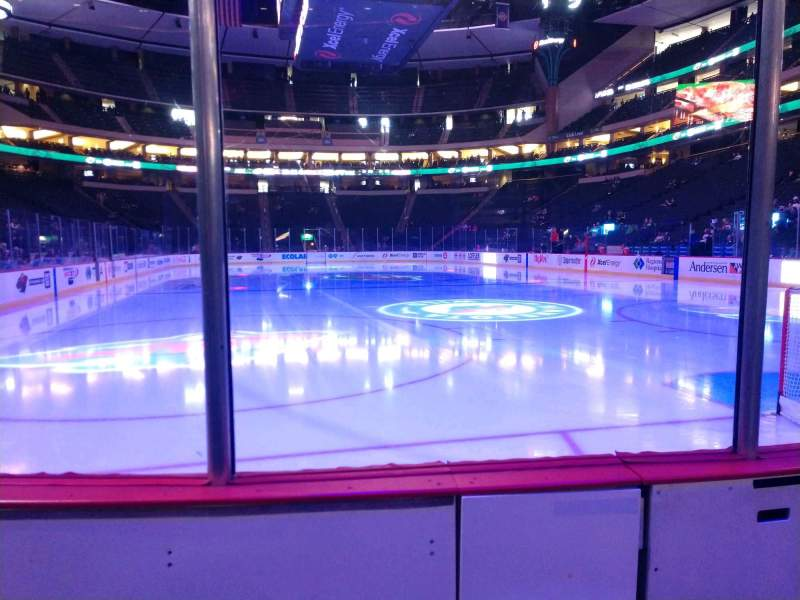 Seating view for Xcel Energy Center Section 124 Row 2 Seat 2
