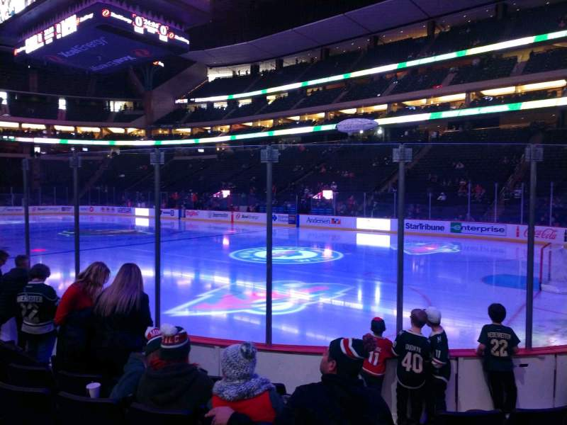 Seating view for Xcel Energy Center Section 126 Row 6 Seat 4