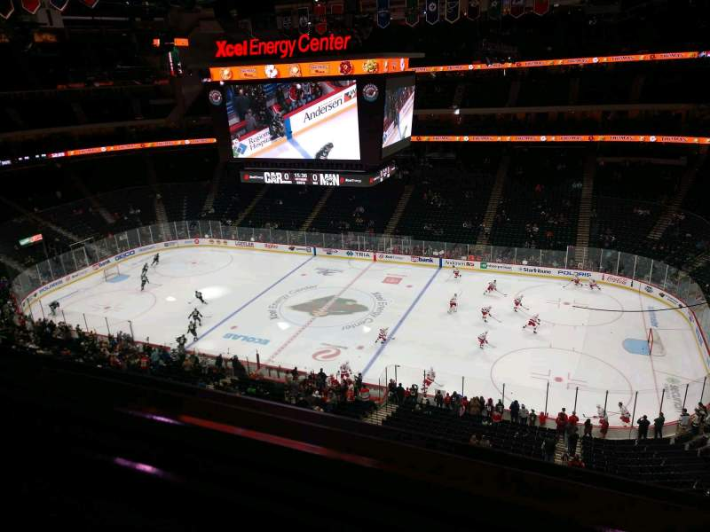 Seating view for Xcel Energy Center Section 217 Row 1 Seat 10