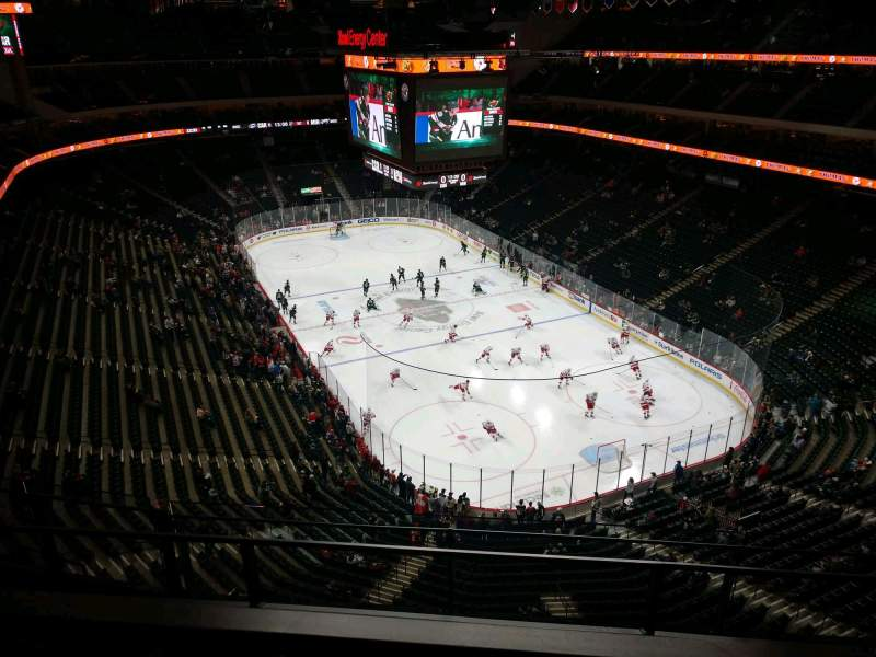 Seating view for Xcel Energy Center Section 214 Row 3 Seat 10