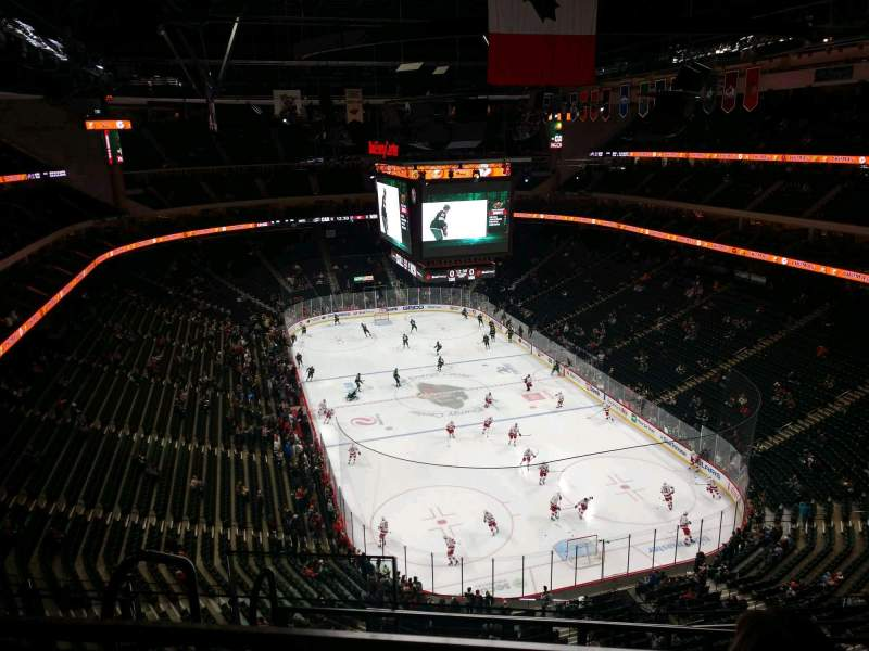 Seating view for Xcel Energy Center Section 213 Row 4 Seat 16