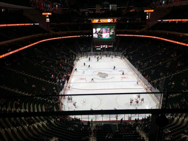 Seating view for Xcel Energy Center Section 212 Row 1 Seat 7