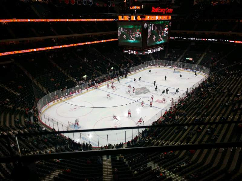 Seating view for Xcel Energy Center Section 208 Row 1 Seat 8