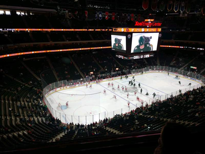 Seating view for Xcel Energy Center Section 207 Row 2 Seat 23