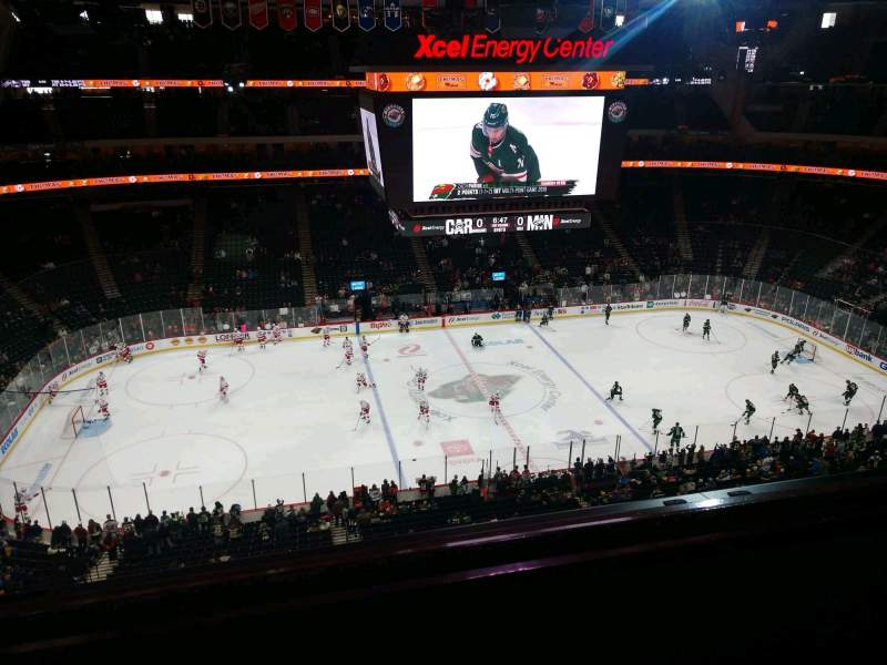 Seating view for Xcel Energy Center Section 205 Row 2 Seat 14