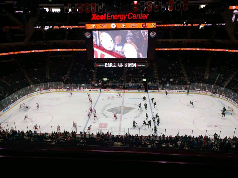 Seating view for Xcel Energy Center Section 204 Row 2 Seat 6
