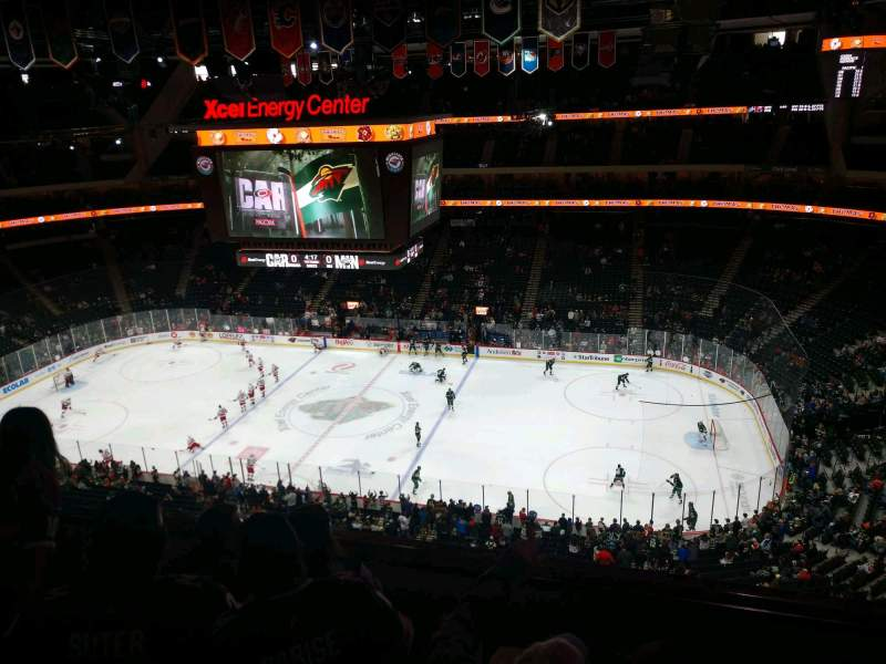 Seating view for Xcel Energy Center Section 202 Row 4 Seat 12