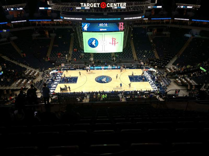 Seating view for Target Center Section 211 Row R Seat 9