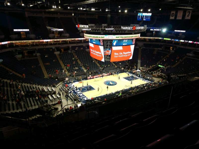 Seating view for Target Center Section 215 Row S Seat 6