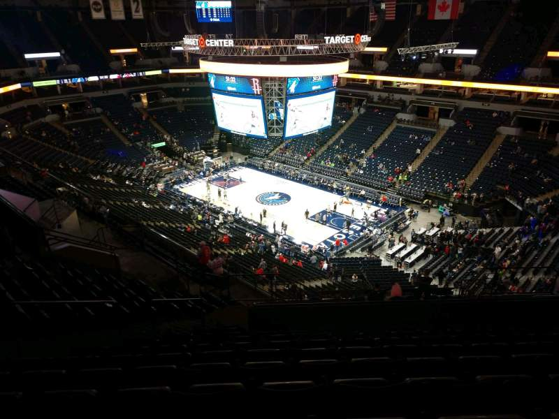 Seating view for Target Center Section 226 Row S Seat 14