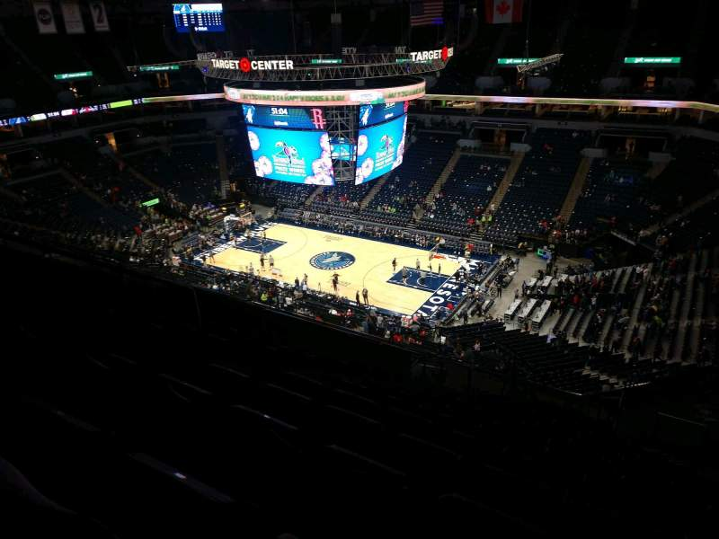 Seating view for Target Center Section 227 Row U Seat 7