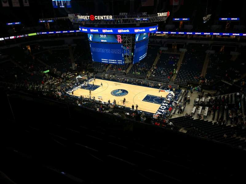 Seating view for Target Center Section 228 Row S Seat 8