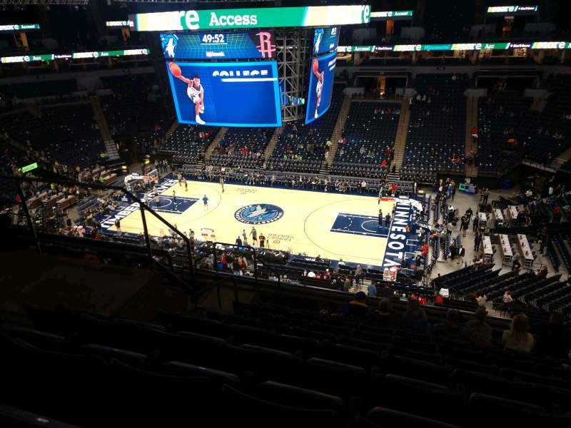 Seating view for Target Center Section 229 Row J Seat 9