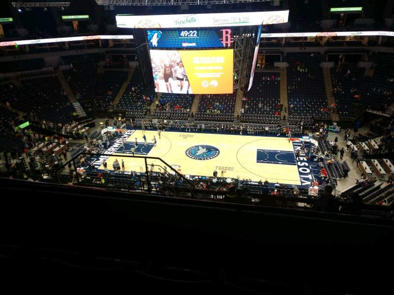 Seating view for Target Center Section 230 Row L Seat 9